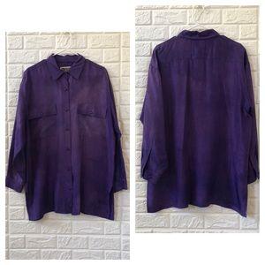 Vintage Forenza tie dye SILK tunic blouse